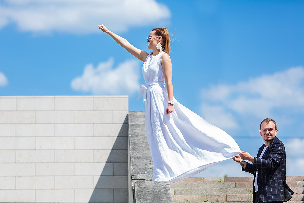 nuotakos suknelė, supermenė, skrydis, skrenda, superwoman