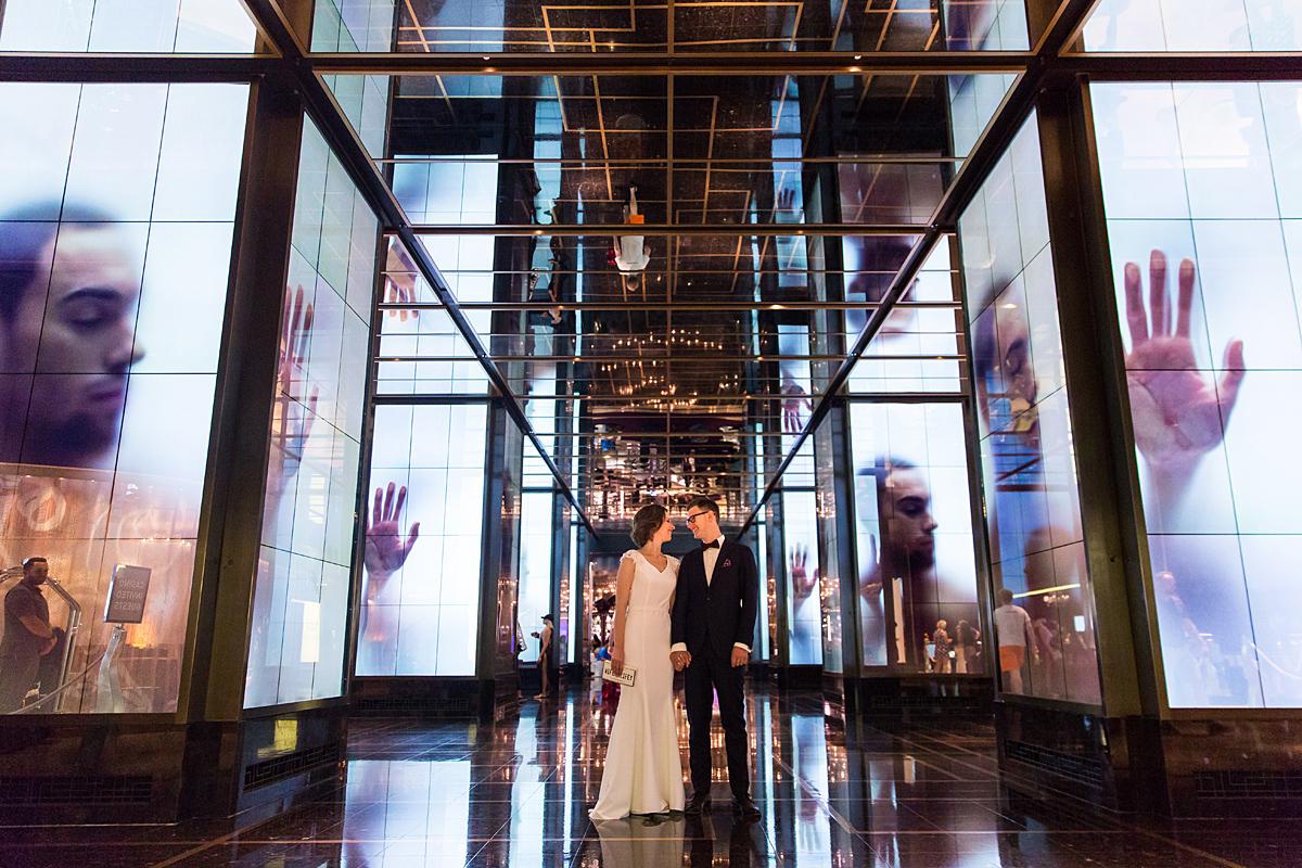 vestuvių fotosesija užsienyje, las vegas, viešbutis Cosmopolitan, vestuvės Amerikoje
