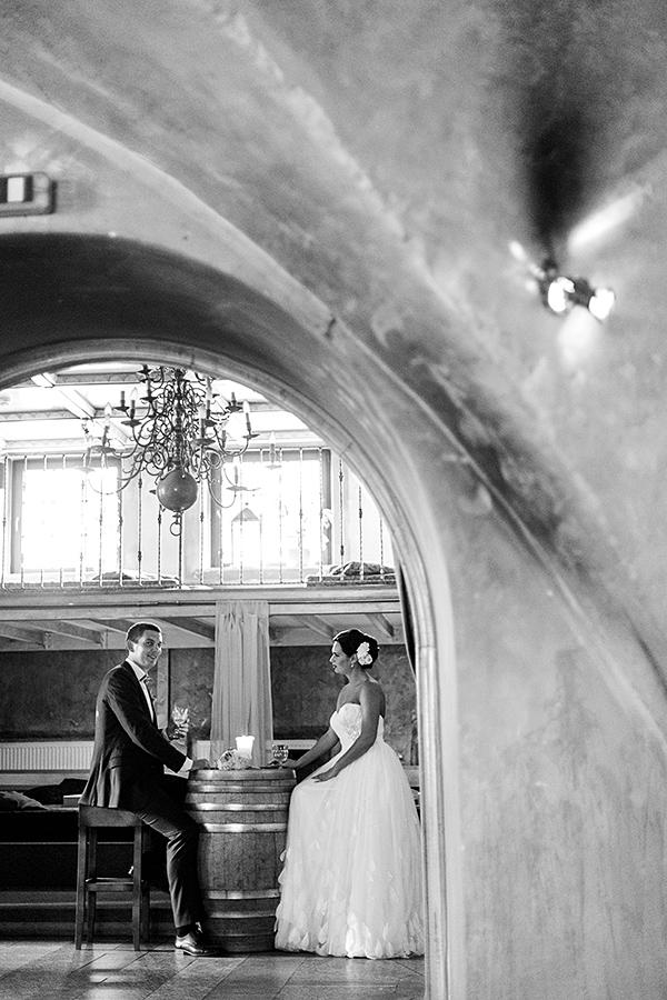 restoranas, vestuvių nuotraukos, la boheme, senamiestis, skliautai, juodai balta