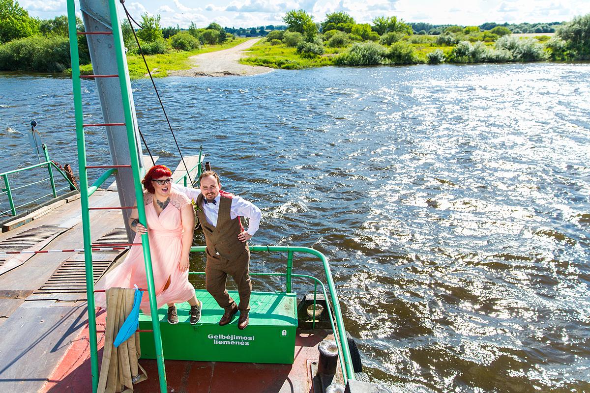 laivas, keltas, bangos, nemunas, gamta, upė, vestuvių kadras