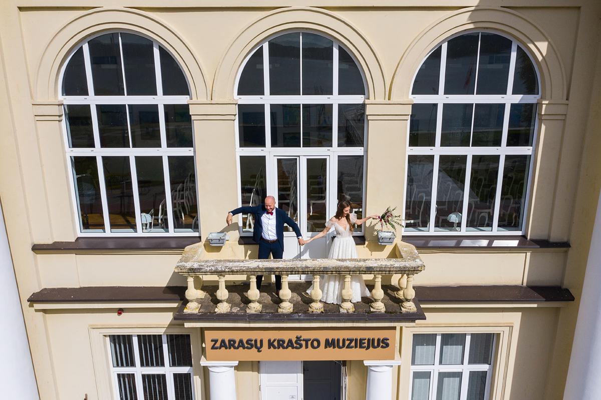 vestuvių fotografas su dronu, vestuvės su dronu, dronas vestuvėse, zarasų krašto muziejus