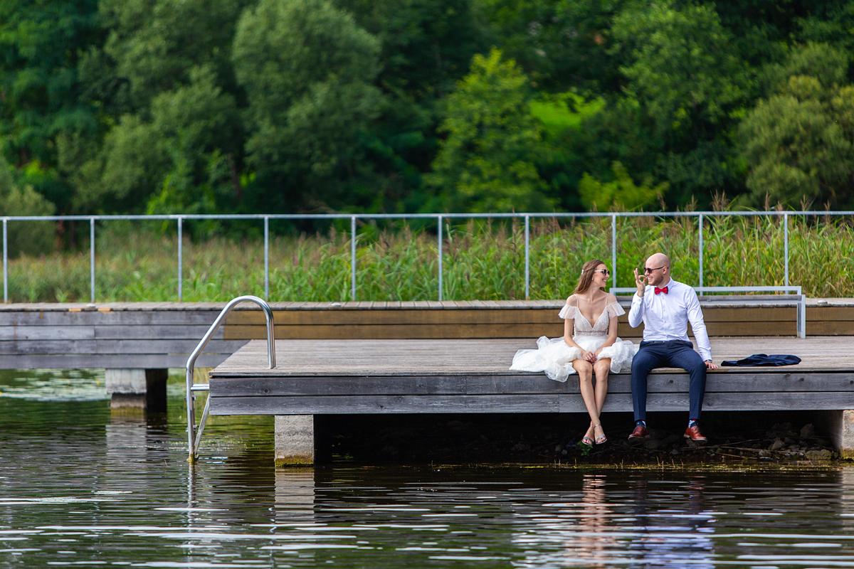 vestuvės prie ežero, Zarasai, vestuvės Zarasuose, gera nuotaika, vestuvių fotosesija
